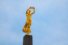 Monument of Remembrance, Gelle Fra or Golden Lady, is a war memorial Stock Photos