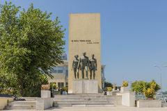 Monument of the Republic with the sayings of Kemal Ataturk in Istanbul, Royalty Free Stock Image