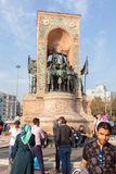 Monument 'Republic' in Taksim Square Royalty Free Stock Photography
