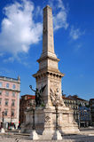 Monument Restauradores in Lisbon, Portugal Royalty Free Stock Photo