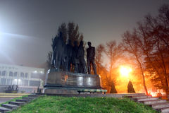 Monument revolutionaries. Monument to the revolutionaries in the city of Makhachkala Dagestan Stock Photo