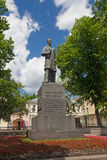 Monument of the revolutionary Bauman on Yelokhovsky Square. Moscow, Russia - June 20, 2017:  Monument of the revolutionary Bauman on Yelokhovsky Square Royalty Free Stock Photography
