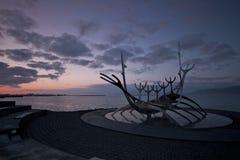 monument reykjavik royaltyfria bilder