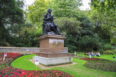 Monument of Robert Burns, London Royalty Free Stock Image