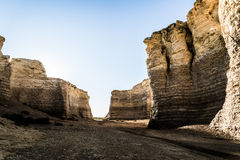 Monument Rock Chalk Pyramids stock images