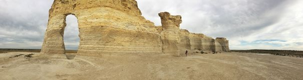 Monument Rocks Panorama Stock Images