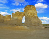 Monument Rocks in Western Kansas Stock Image
