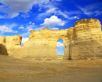 Monument Rocks in Western Kansas Stock Photos