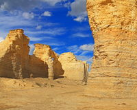 Monument Rocks in Western Kansas Royalty Free Stock Images