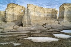 Monument Rocks in western Kansas Stock Images