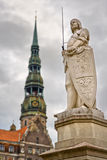 Monument of Roland in Riga Royalty Free Stock Photos