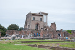 Monument in the Roman Forum, in particular. The Domus Flavia,italy Royalty Free Stock Images