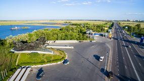 monument Rostov-op-trek aan Rusland royalty-vrije stock foto