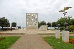 Monument Rovinj de WWII Image stock