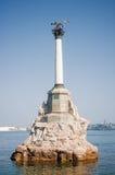 monument rusade ships till royaltyfri bild