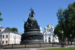 Monument, Russia, baptism of Rus, ancient Russ Stock Images