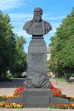 Monument of Russian battle painter Vasily Vereshchagin Stock Photography