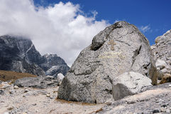 Monument of the Russian climbers to victims on Everest. Nepal, Himalayas Stock Photos