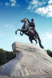 Monument of Russian emperor Peter the Great Stock Photography