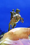 Monument of Russian emperor Peter the Great, known as Royalty Free Stock Images