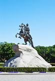 Monument of Russian emperor Peter the Great Stock Photo