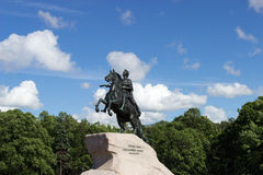 Monument of Russian emperor Peter the Great Royalty Free Stock Photos