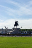 Monument of Russian emperor Peter the Great Royalty Free Stock Images