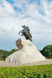 Monument of Russian emperor Peter the Great, St. Petersburg Royalty Free Stock Images