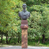 Monument of the Russian musician Vasily Andreyev in Bezhetsk Stock Images