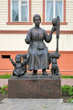 Monument of Russian wives in Arkhangelsk, Russia Stock Images