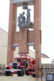 Monument Ryazan firefighters from Fire Station ?1, Ryazan. On the pedestal of the car GAZ-AA in 1933. Monument Ryazan firefighters from Fire Station 1, Ryazan Royalty Free Stock Photo