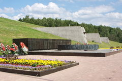 A monument is sacred to great patriotic war Stock Photo