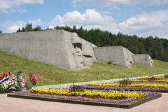 A monument is sacred to great patriotic war Stock Photos