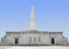 Monument Sagrado Corazón. On top of the hill near Madrid, Spain is a 14th century monastery named Our Lady of the Angels (Nuestra Señora de los Ángeles Stock Photo