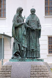 Monument of Saints Cyril and Methodius in Dmitrov, Russia Royalty Free Stock Photos