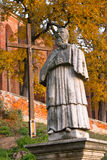 Monument Sandomierz abbot. Of the monastery - Vincent Kadlubek Stock Photo
