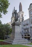 Monument Sandor Petofi in Boedapest stock foto
