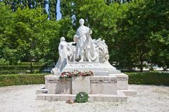 Monument for Sandor Petofi in Bratislava, Slovakia. Monument for Sandor Petofi (1823 - 1849), Hungarian poet and liberal revolutionary. Bratislava, Slovakia Stock Images