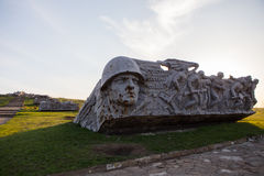Monument of Savur-Mohyla Royalty Free Stock Photography