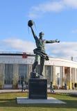 Monument-Schöpfer des ersten Erdsatelliten, 1957 Lizenzfreies Stockfoto