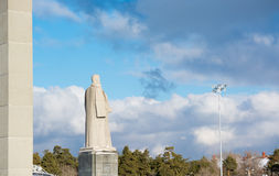 Monument scientists in chelyabinsk Royalty Free Stock Photography