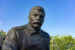 The monument by sculptor Zurab Tsereteli dedicated to the Yalta conference in 1945. Yalta, Crimea-may 30, 2016: the monument by sculptor Zurab Tsereteli Stock Images