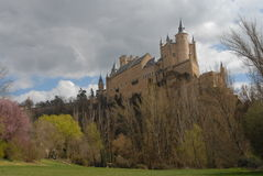 Monument in segovia alcazar Royalty Free Stock Photo
