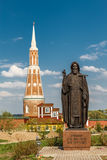 The monument of Sergey Radonezhsky Stock Photo