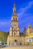 Monument in Seville. Plaza de Espana in Seville, Andalucia, Spain Royalty Free Stock Image