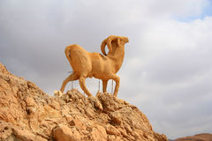 Monument of sheep, chebika, tunisia Royalty Free Stock Photos