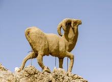 Monument of sheep, Sahara, Chebika Stock Image