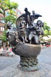 Monument SHIP OF FOOLS in Nuremberg, Germany Stock Image