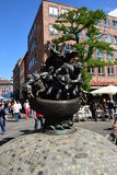 Monument SHIP OF FOOLS in Nuremberg, Germany Stock Photos