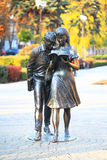 Monument of Shurik and Lida, soviet movie heroes Stock Photography